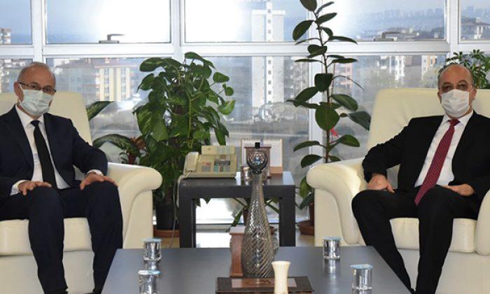 Gümüşhane Üniversitesi Rektörü Zeybek'ten OMÜ Rektörü Yavuz Ünal'a Ziyaret