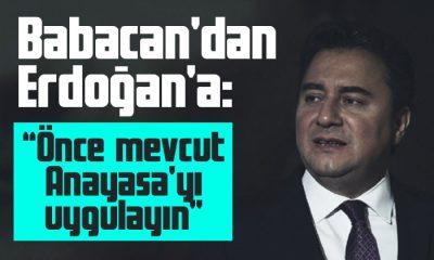 Babacan: Önce mevcut Anayasa'yı uygulayın