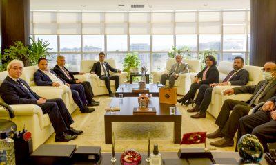 Rektör Ünal, Ladik Kaymakamı Orhan ve Ladik Belediye Başkanı Yapıcı ile Bir Araya Geldi