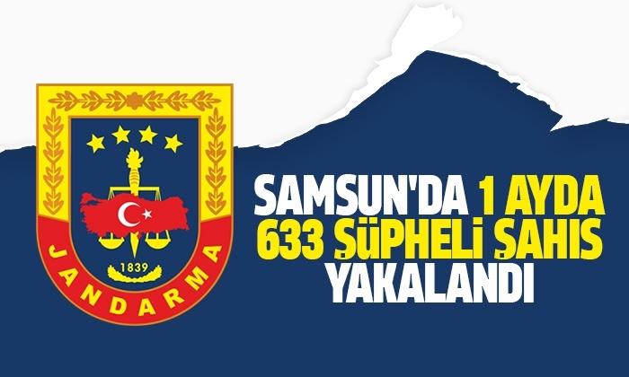 Samsun'da 1 ayda 633 şüpheli şahıs yakalandı