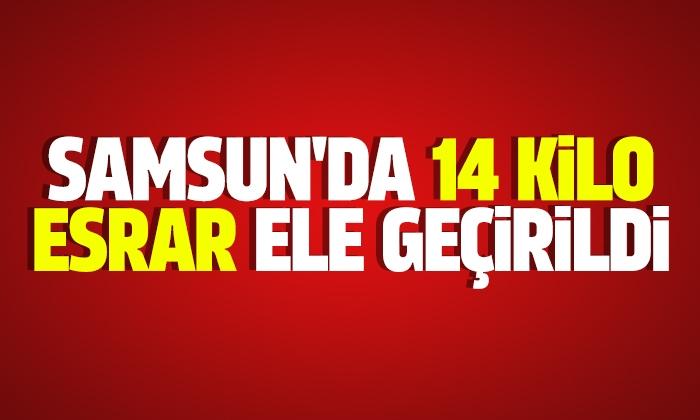 Samsun'da 14 kilo esrar ele geçirildi