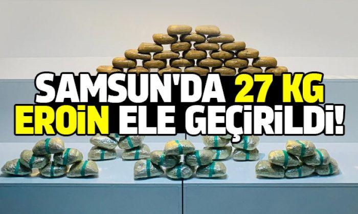 27 kg eroin maddesi ele geçirildi