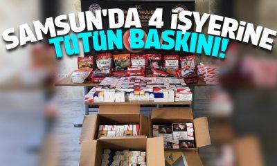 Samsun'da Tütün ve Tütün Mamülleri denetimi yapıldı