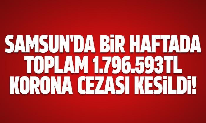 Samsun'da bir haftada toplam 1.796.593 TL ceza kesildi