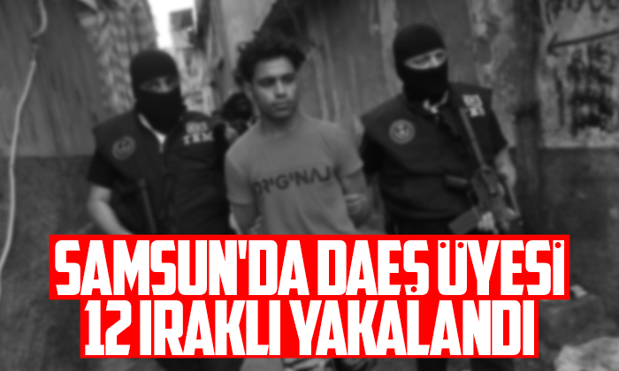 Samsun'da DEAŞ üyesi 12 Iraklı yakalandı