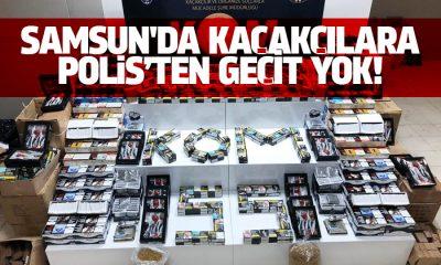 Samsun'da kaçakçılara polisten geçit yok!