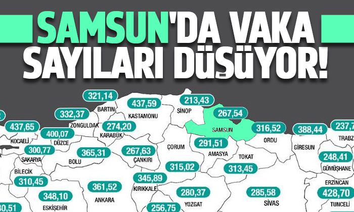Haftalık vaka sayısı açıklandı! Samsun'da vakalar yarı yarıya düştü