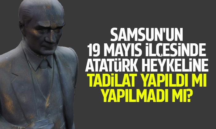 Atatürk heykeline tadilat yapıldı mı yapılmadı mı?