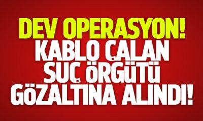 Samsun'da kablo çalan 23 şüpheli gözaltına alındı