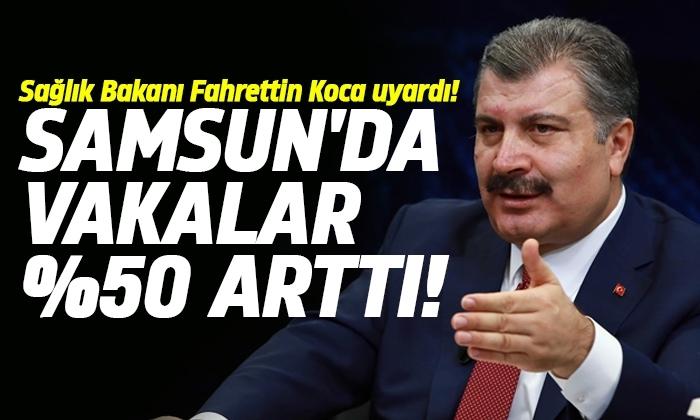 Samsun'daki koronavirüs vakalarında artış