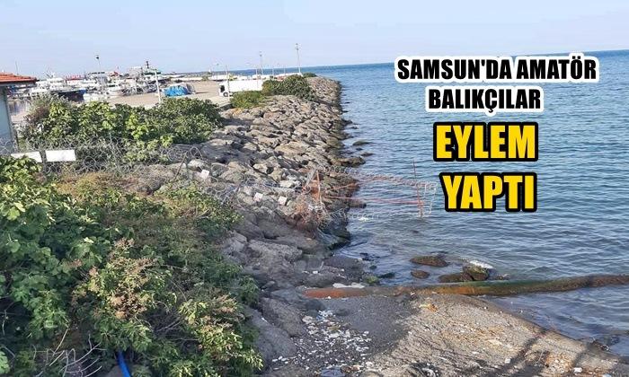 Samsun'da Amatör Balıkçılar Eylem Yaptı!