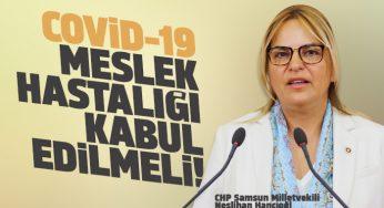 Hancıoğlu: COVİD-19, sağlıkçılar özelinde meslek hastalığı kabul edilmelidir!