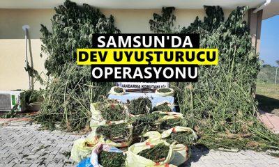 Samsun'da Dev Uyuşturucu Operasyonu!