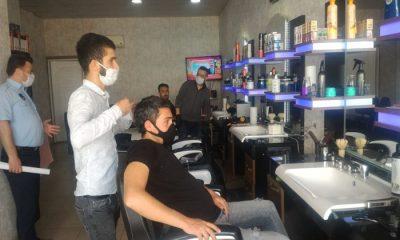 Samsun'da Kurallara uymayan berberlere ceza yağdı!