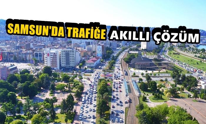 """Samsun'da Trafiğe """"Akıllı"""" Çözüm"""