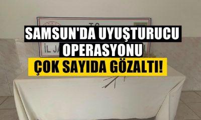 Samsun'da Uyuşturucu ve Silah Operasyonu! Çok Sayıda Gözaltı