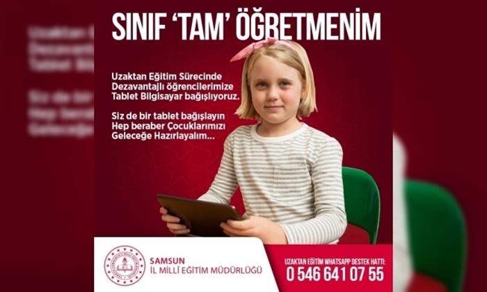 Samsun'da Uzaktan Eğitime Ulaşamayan Öğrenci Kalmayacak