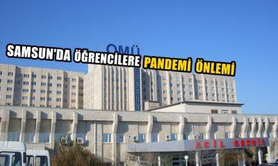 Samsun'da Öğrencilere Pandemi Önlemi