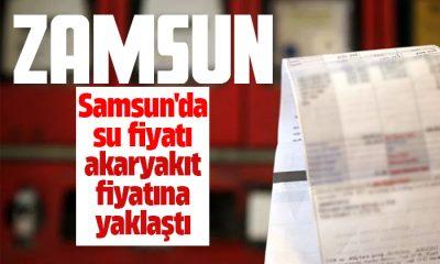 Samsun'da su fiyatı akaryakıt fiyatına yaklaştı