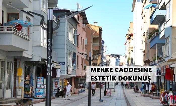 Samsun'daki Mekke Caddesi'ne Estetik Dokunuş