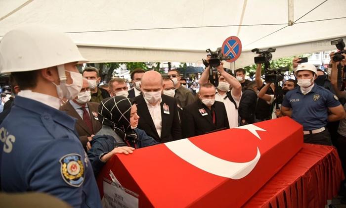 Samsunlu Şehit polis Atakan Arslan son yolculuğuna uğurlandı