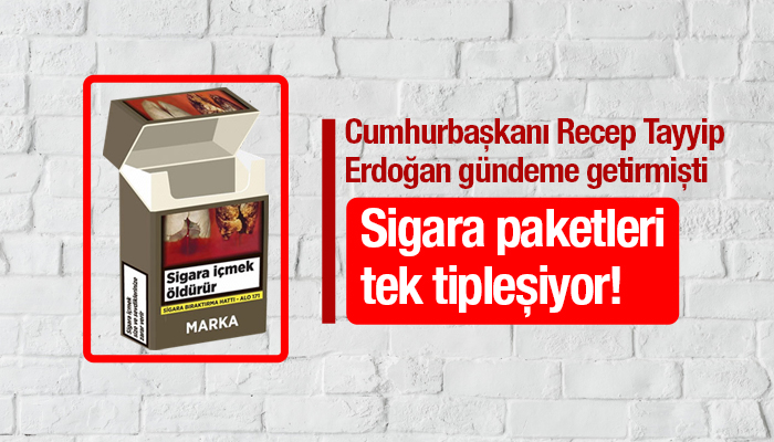 Sigara paketleri tek tipleşiyor!