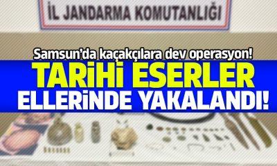 Samsun'da çok sayıda tarihi eser yakalandı