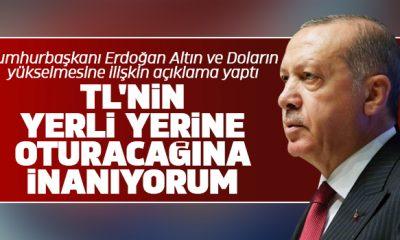 Cumhurbaşkanı Erdoğan Altın ve Doların yükselmesine ilişkin açıklama yaptı