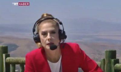 TRT spikeri canlı yayında bayıldı!
