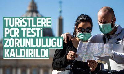 Turistlere korona testi zorunluluğu kaldırıldı