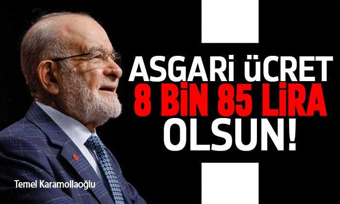 Temel Karamollaoğlu: Asgari ücrette hedef 8 bin 85 lira olmalı