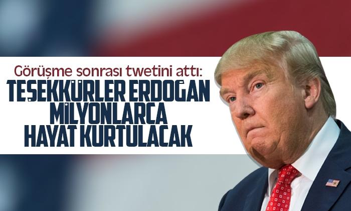 Trump'tan teşekkür tweti