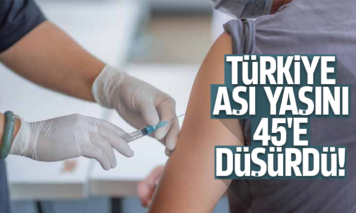 Aşı randevuları 45 yaş üstü için açıldı