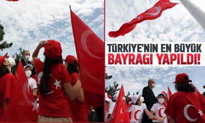 Türkiye'nin en büyük bayrağı yapıldı!