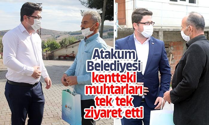 Atakum Belediyesi kentteki muhtarları tek tek ziyaret etti