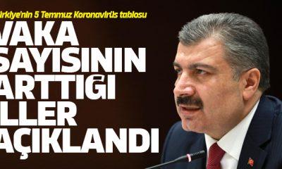 Türkiye'nin 5 Temmuz Koronavirüs tablosu