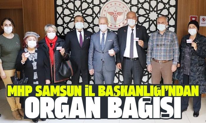 MHP Samsun İl Başkanlığı'ndan organ bağışı