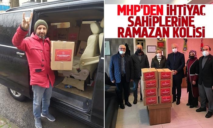 MHP'den ihtiyaç sahiplerine ramazan kolisi