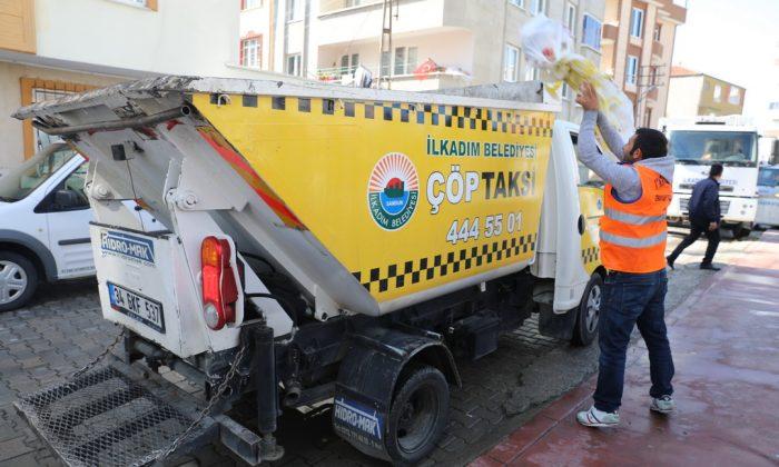 İlkadım Belediyesi çöp taksi ile evrensel atıkları toplayacak