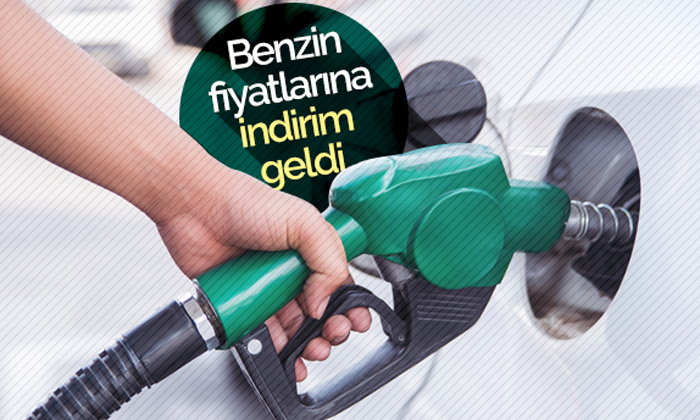 Benzinin litre fiyatına indirim