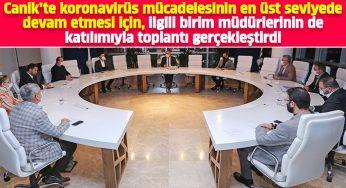 Canik'te koronavirüs toplantısı