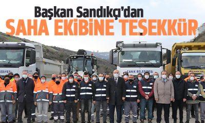 Başkan Sandıkçı ekip arkadaşlarına teşekkür etti