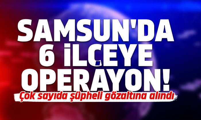 Samsun'da 15 şüpheli şahıs gözaltına alındı