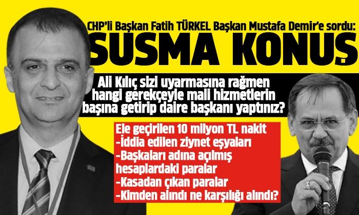Türkel: Belediyedeki yolsuzluk iddiaları unutturulmaya çalışılıyor