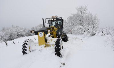 Tekkeköy Belediyesi Karla Mücadele Ekipleri İş Başında