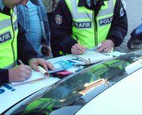 Saklanarak trafik cezası!