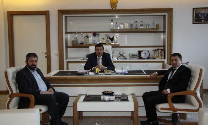 ASDEF Genel Başkan Yardımcısı Satılmış Akyüz Başkan İkiz'i ziyaret etti