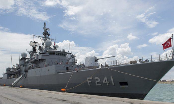 Askeri gemi Samsun'a geliyor