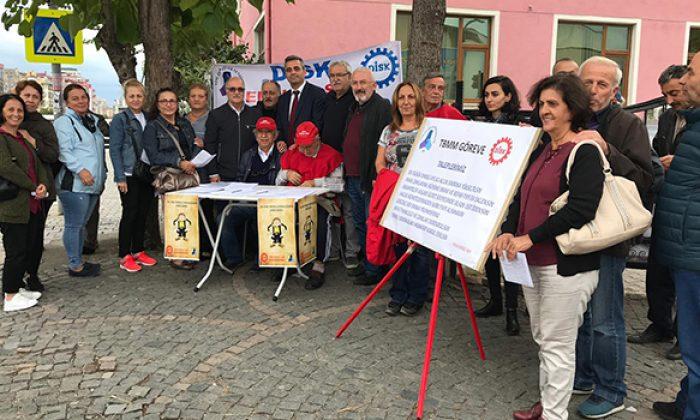 Atakum Gönüllüleri Derneği'nden DİSK / Emekli-Sen'e destek