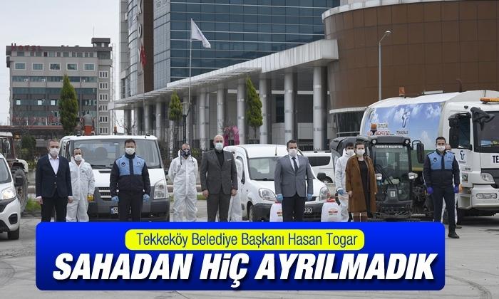 """Başkan Hasan Togar: """"Sahadan hiç ayrılmadık"""""""